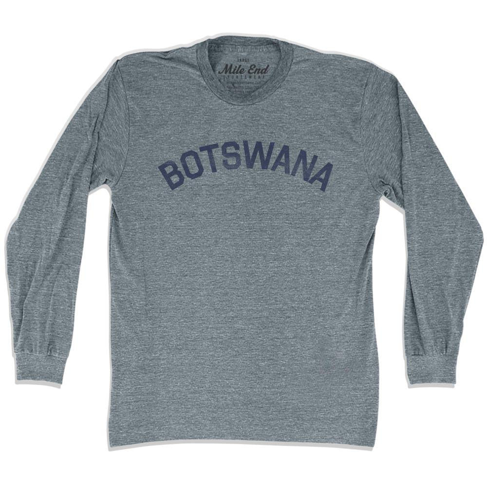 Botswana City Vintage Long Sleeve T-shirt in Athletic Grey by Mile End Sportswear