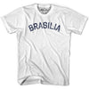 Brasilia City Vintage T-shirt in Grey Heather by Mile End Sportswear