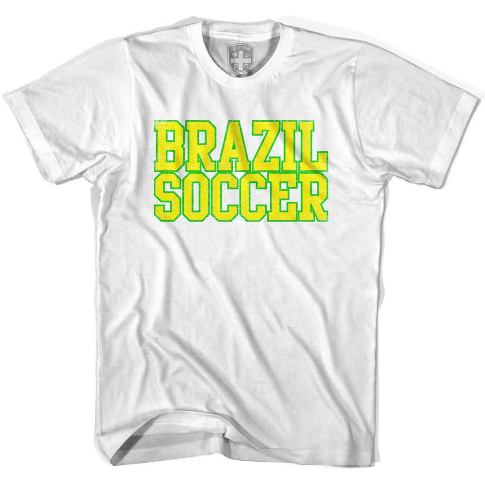 Brazil Soccer Nations World Cup T-shirt in White by Neutral FC