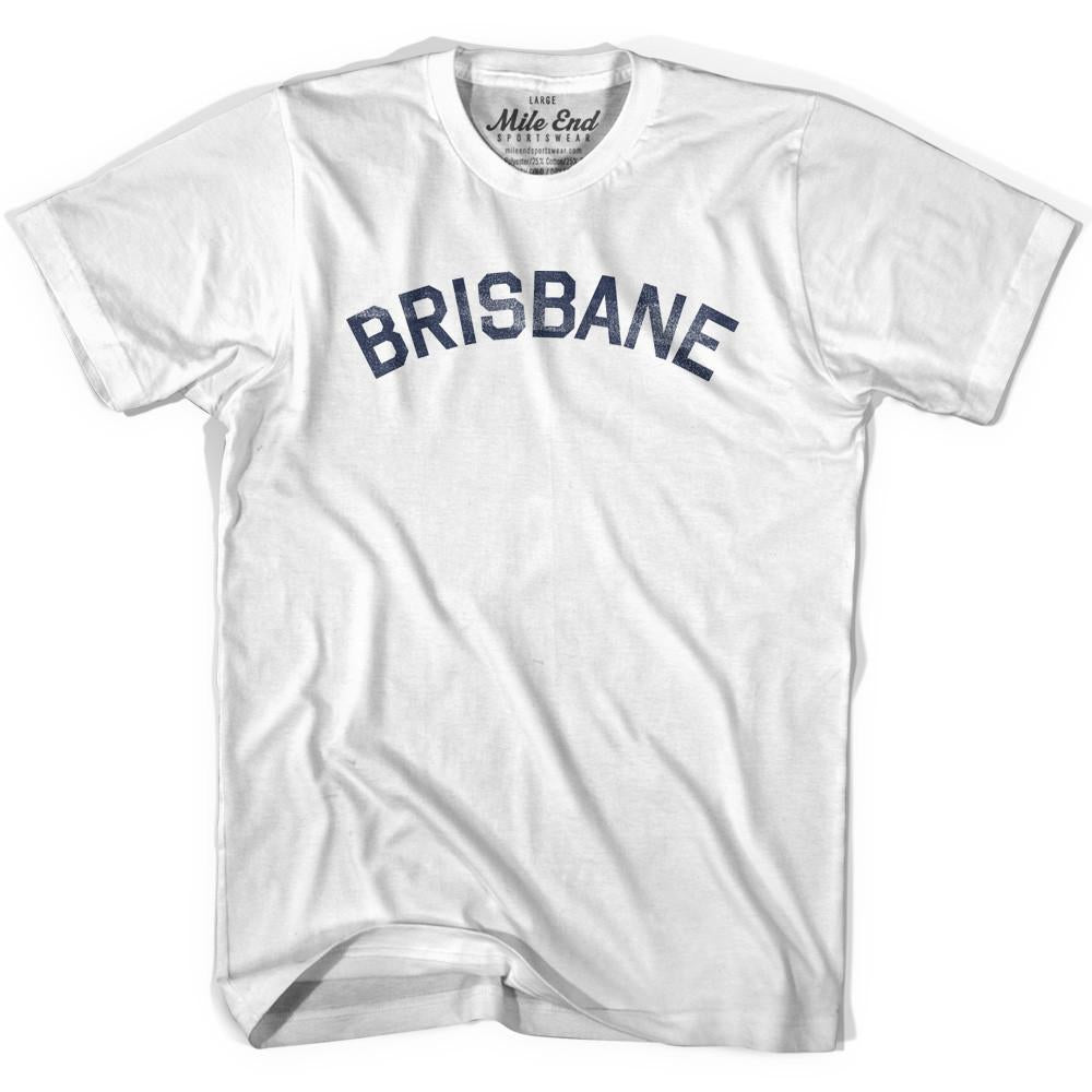 Brisbane City Vintage T-shirt in White by Mile End Sportswear
