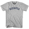 Budapes City Vintage T-shirt in Grey Heather by Mile End Sportswear
