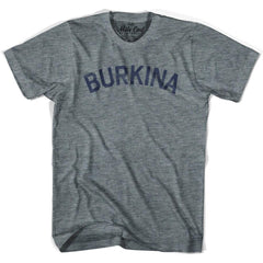 Burkina Faso City Vintage T-shirt in Athletic Blue by Mile End Sportswear