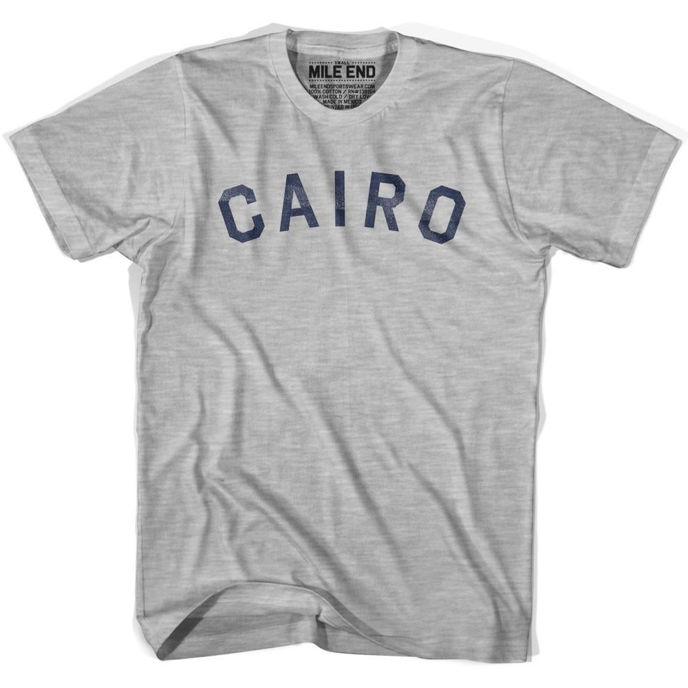 Cairo City Vintage T-shirt in Grey Heather by Mile End Sportswear
