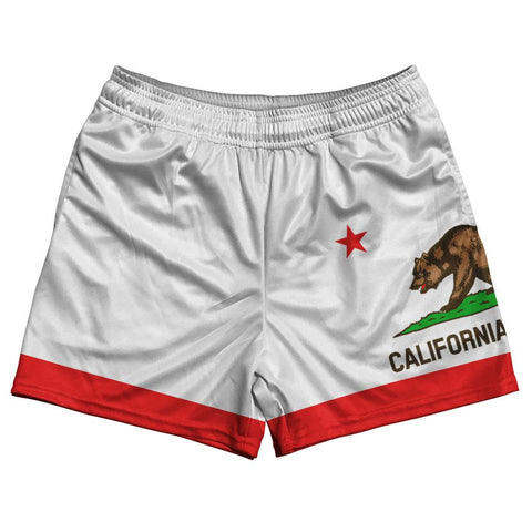 California State Flag Rugby Shorts Made In USA