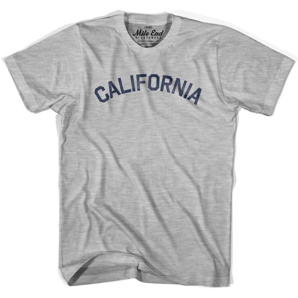California Union Vintage T-shirt in Grey Heather by Mile End Sportswear