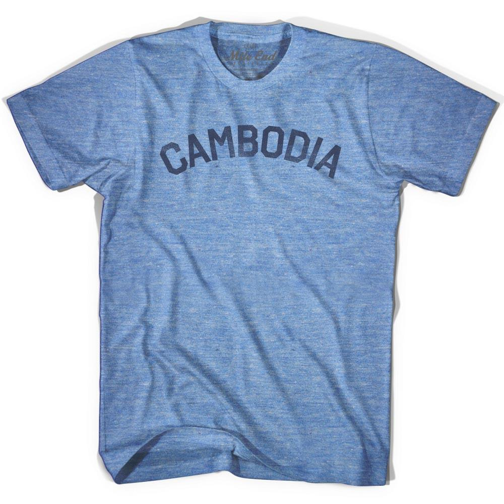 Cambodia City Vintage T-shirt in Athletic Blue by Mile End Sportswear