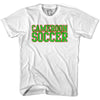 Cameroon Soccer Nations World Cup T-shirt in White by Neutral FC