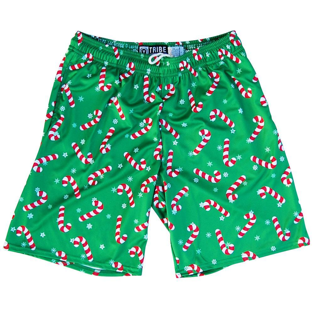 9ae01e8880674 Candy Cane Christmas Winter Holiday Lacrosse Shorts by Tribe Lacrosse –  Mile End Sportswear