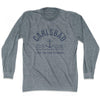 Carlsbad Anchor Life on the Strand long sleeve T-shirt in Athletic Grey by Life On the Strand