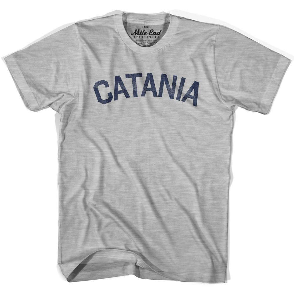 Catania City Vintage T-shirt in Grey Heather by Mile End Sportswear