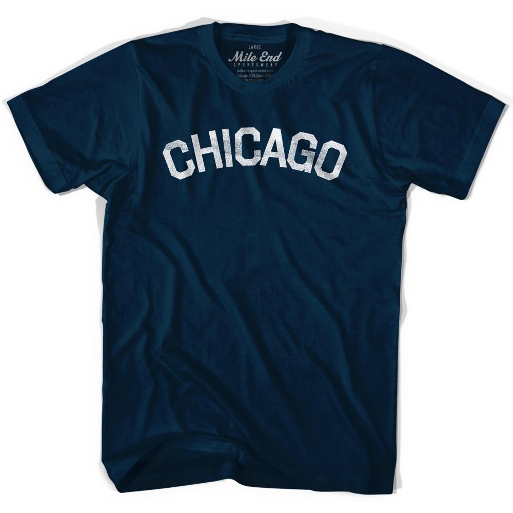 Chicago Vintage City T-shirt in Navy by Mile End Sportswear
