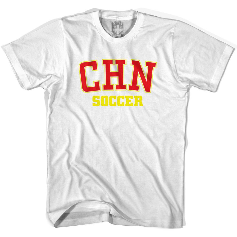China PR CHN Soccer Country Code T-shirt in White by Neutral FC