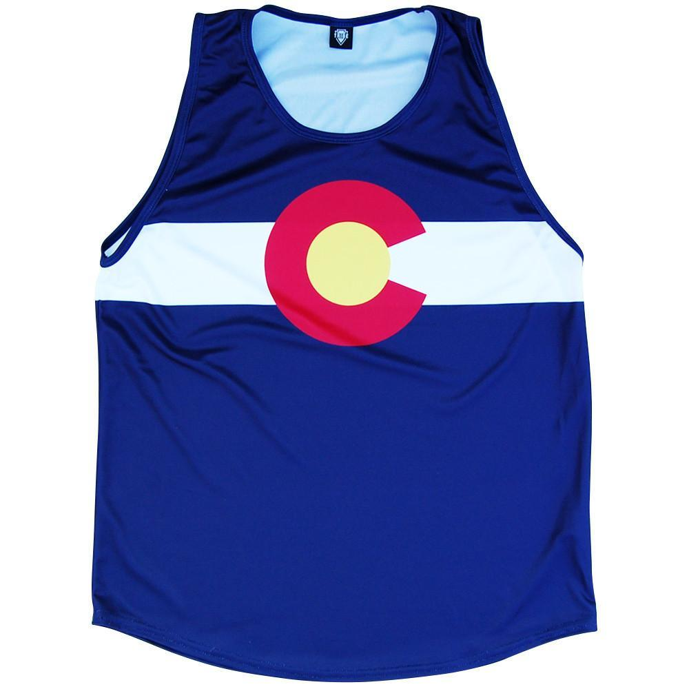Colorado Flag Sport Tank in Red White Blue by Mile End Sportswear