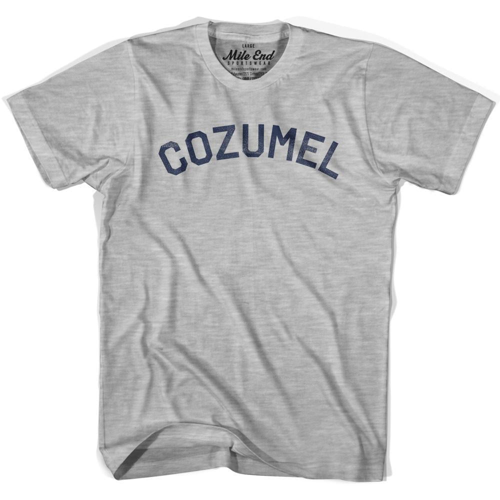 Cozumel City Vintage T-shirt in Grey Heather by Mile End Sportswear