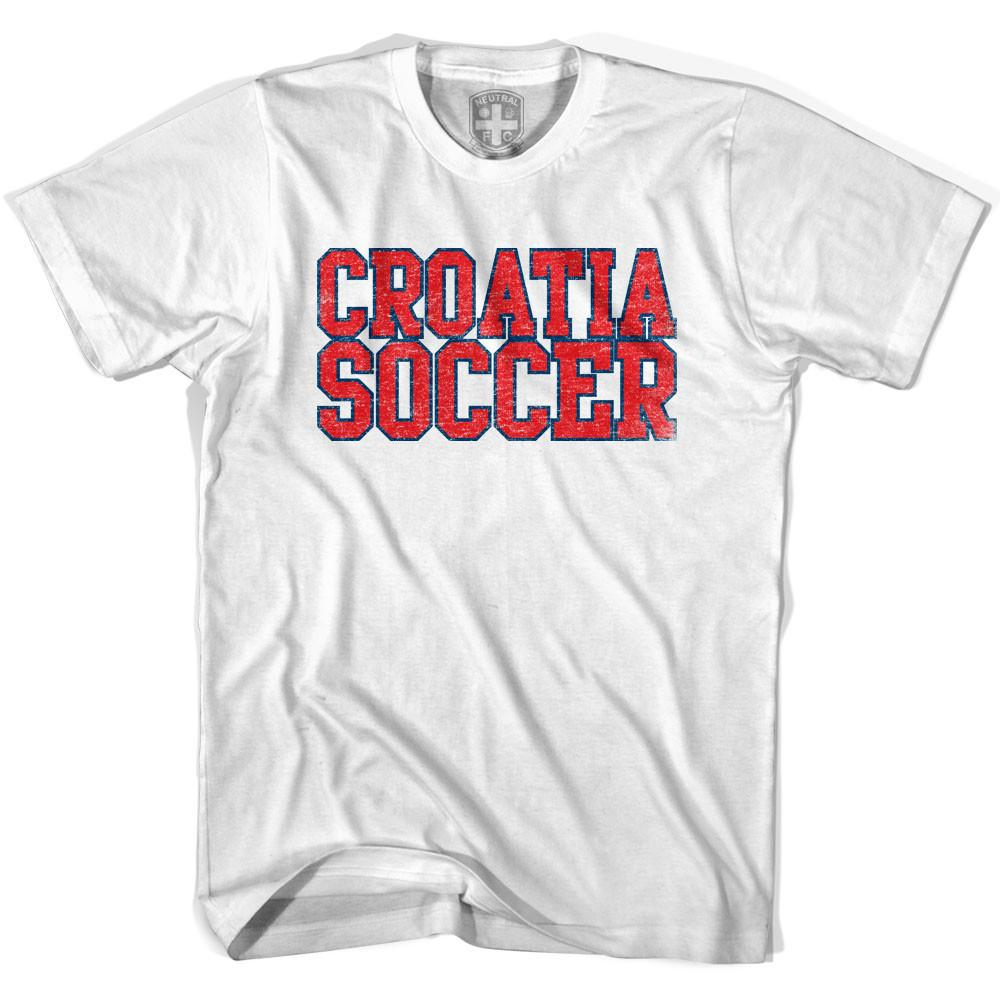 Croatia Soccer Nations World Cup T-shirt in White by Neutral FC