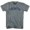 Croatia City Vintage T-shirt in Athletic Blue by Mile End Sportswear