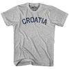 Croatia City Vintage T-shirt in Grey Heather by Mile End Sportswear