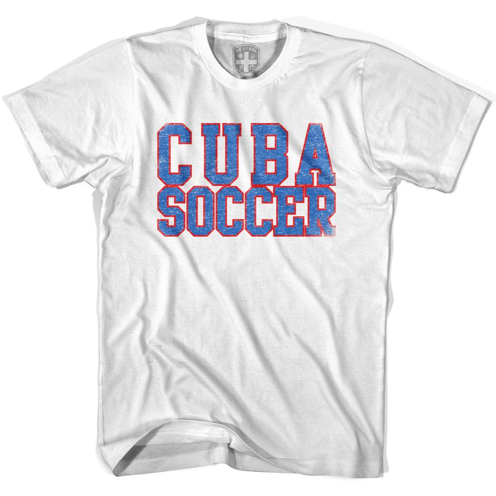 Cuba Soccer Nations World Cup T-shirt in White by Neutral FC