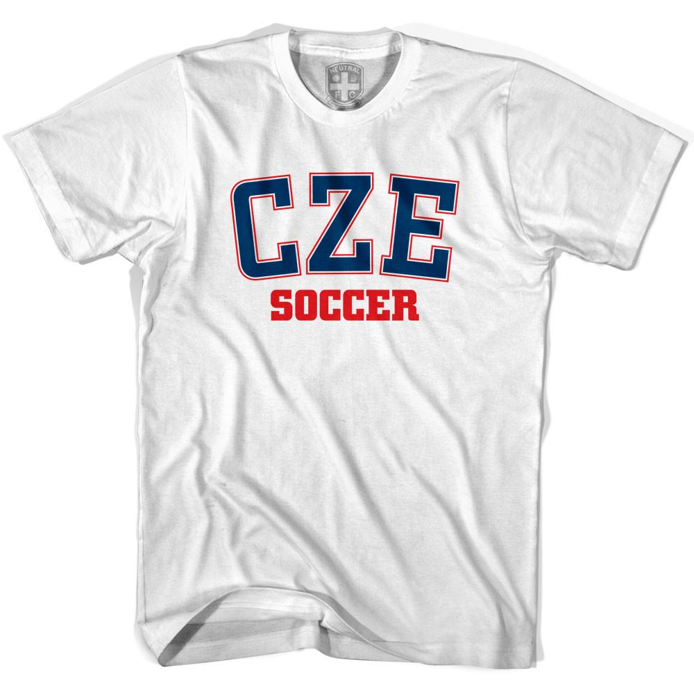 Czech Republic CZE Soccer Country Code T-shirt in White by Neutral FC