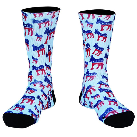 Democrat Donkey Premium Athletic Crew Socks