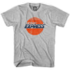 Detroit Express Vintage Crest Soccer T-shirt in Cool Grey by Neutral FC