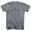Dewey Anchor Life on the Strand V-neck T-shirt in Athletic Grey by Life On the Strand