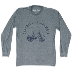 District of Columbia Bike Long Sleeve T-shirt in Athletic Grey by Mile End Sportswear