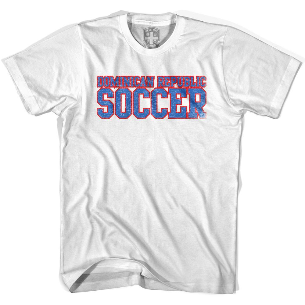 Dominican Republic Soccer Nations World Cup T-shirt in White by Neutral FC