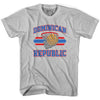 Dominican Republic 90's Basketball T-shirts in Grey Heather by Billy Hoyle