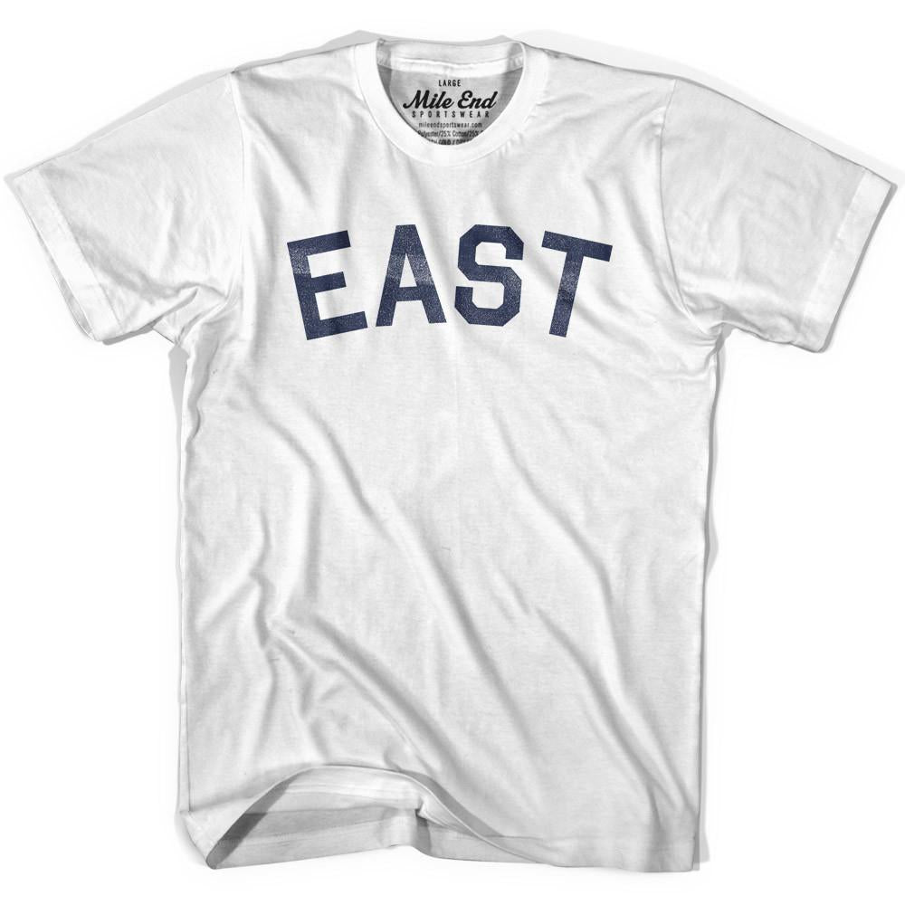 East City Vintage T-shirt in White by Mile End Sportswear