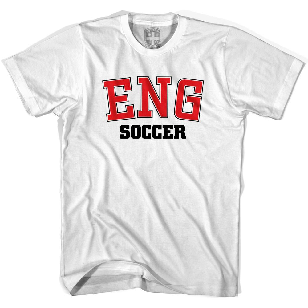 England ENG Soccer Country Code T-shirt in White by Neutral FC