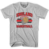 England 90's Basketball T-shirts in Grey Heather by Billy Hoyle