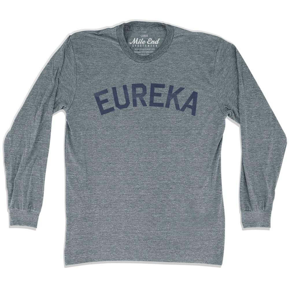 Eureka City Vintage Long Sleeve T-shirt in Athletic Grey by Mile End Sportswear