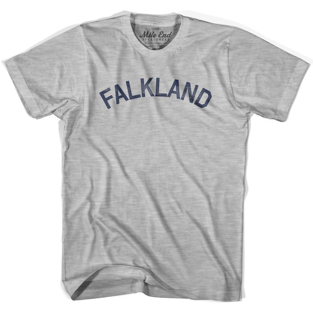 Falkland City Vintage T-shirt in Grey Heather by Mile End Sportswear