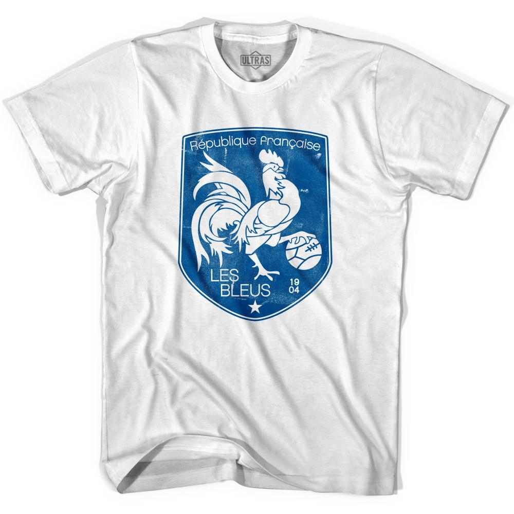 Ultras France Shield Ultras Soccer T-shirt in White by Ultras
