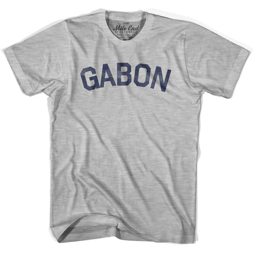 Gabon City Vintage T-shirt in Grey Heather by Mile End Sportswear