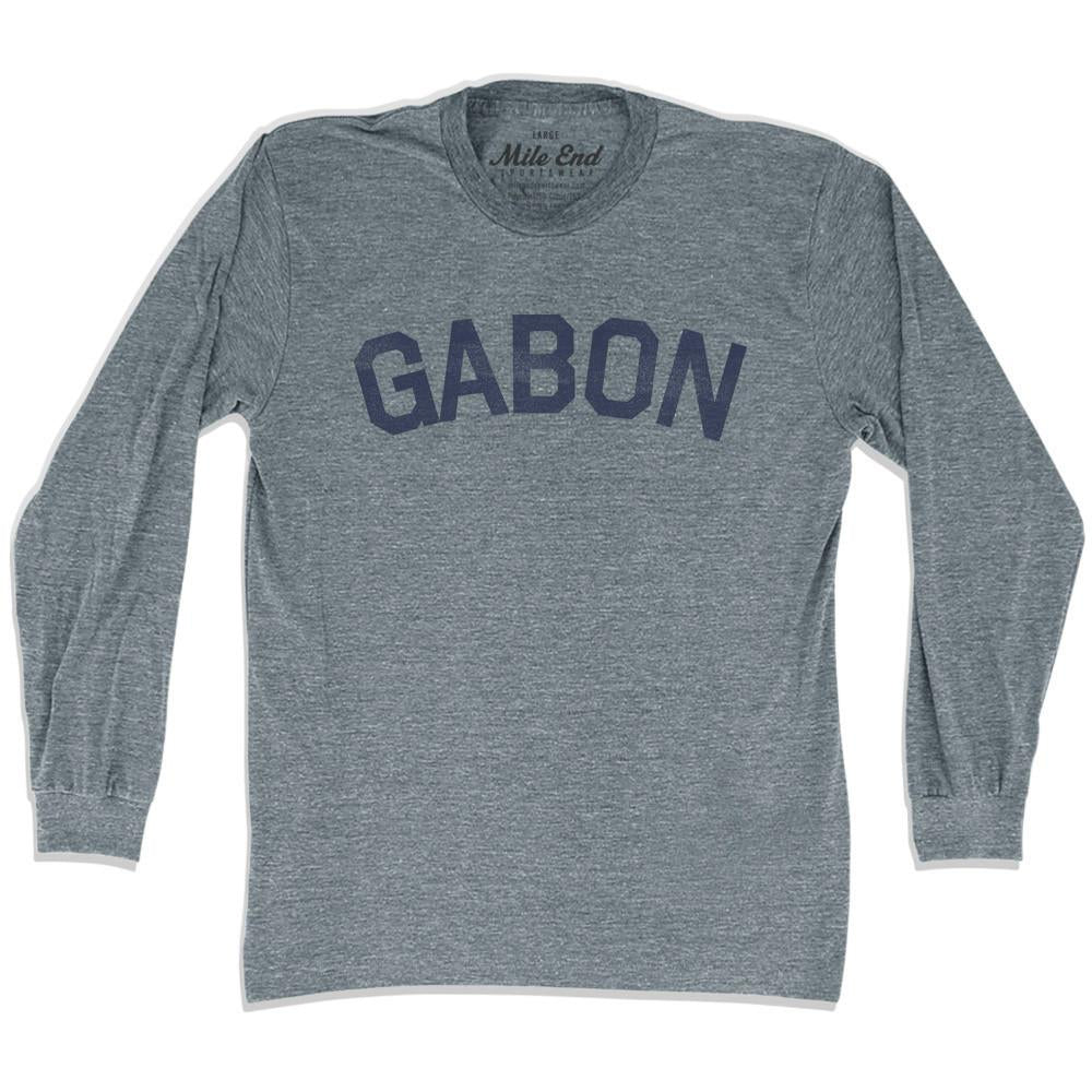 Gabon City Vintage Long Sleeve T-shirt in Athletic Grey by Mile End Sportswear