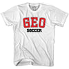 Georgia GEO Soccer Country Code T-shirt in White by Neutral FC