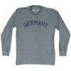 Germany City Vintage Long-Sleeve T-shirt in Athletic Grey by Mile End Sportswear