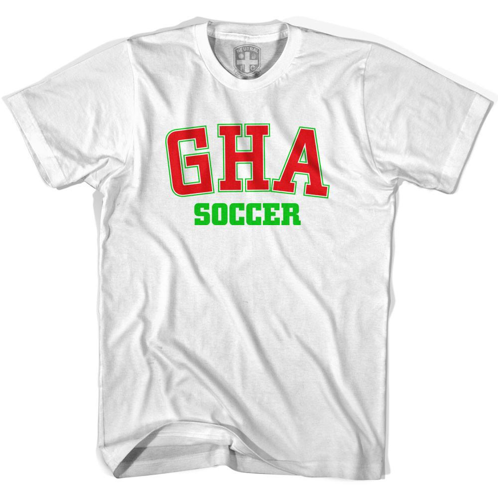 Ghana GHA Soccer Country Code T-shirt in White by Neutral FC