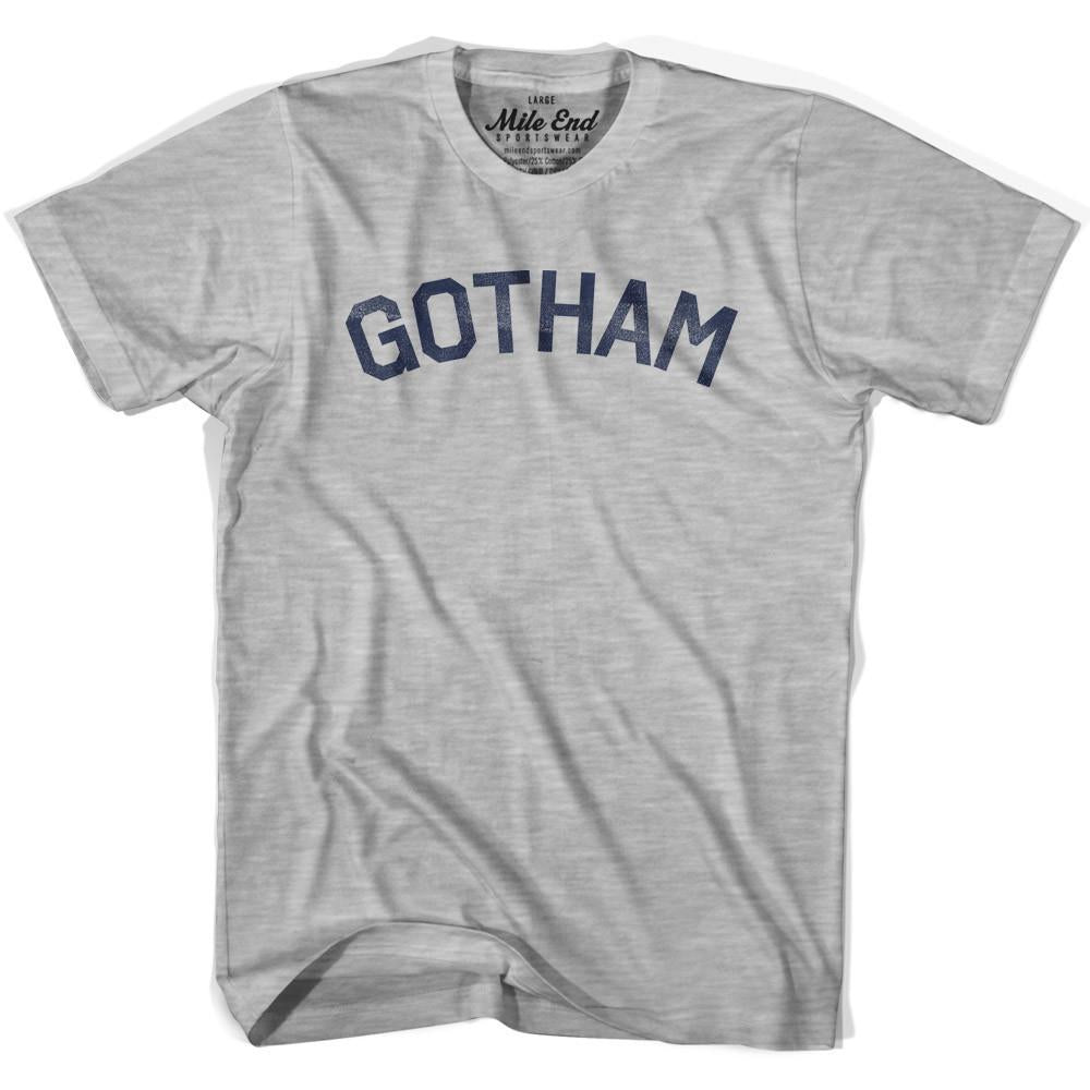 Gotham City Vintage T-shirt in Grey Heather by Mile End Sportswear