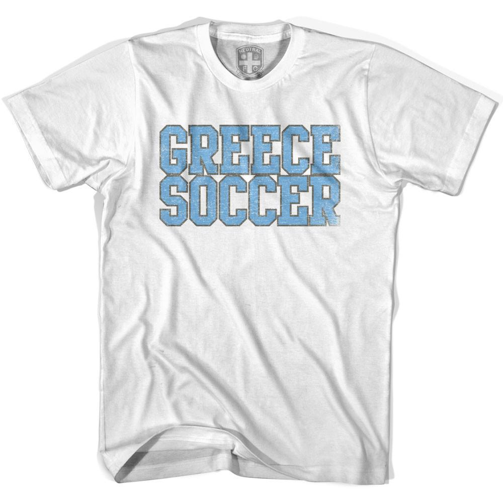 Greece Soccer Nations World Cup T-shirt in White by Neutral FC
