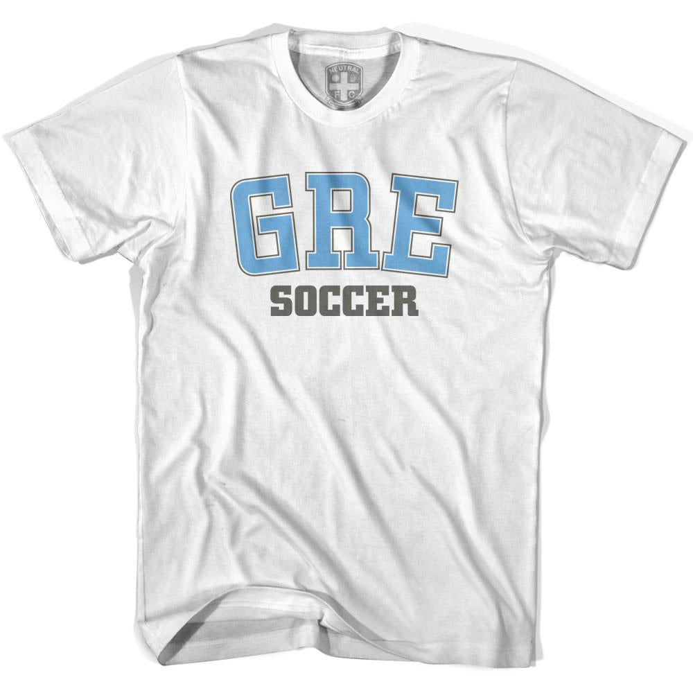 Greece GRE Soccer Country Code T-shirt in White by Neutral FC