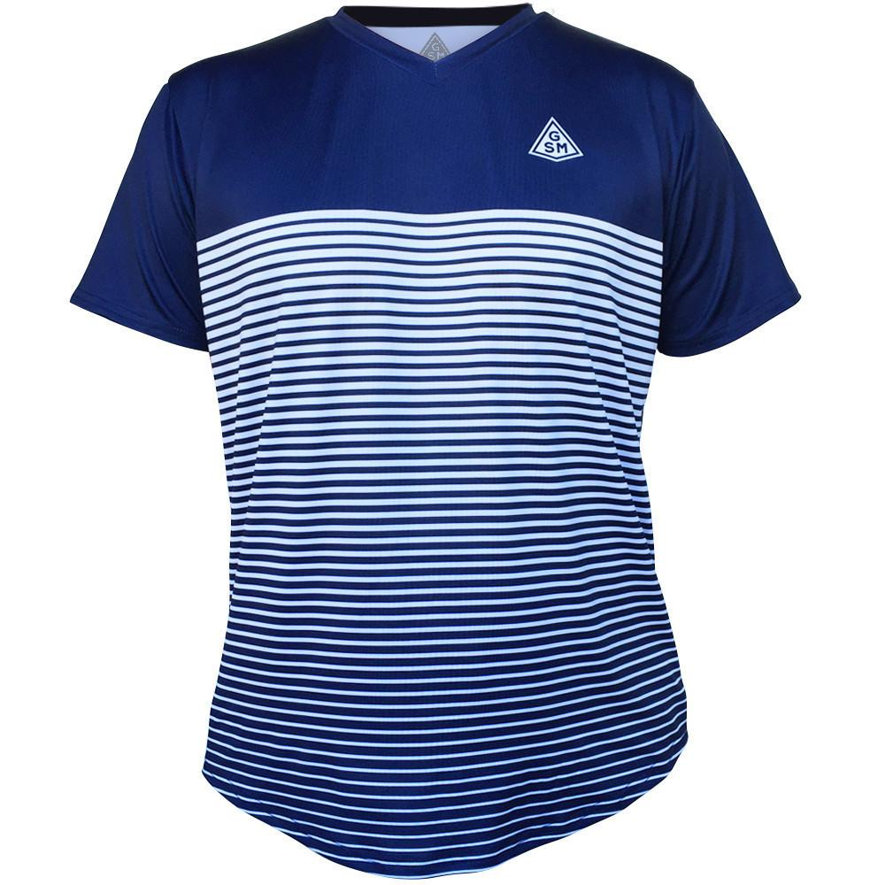 rise gsm tennis shirt in navy white by gsm tennis t shirts