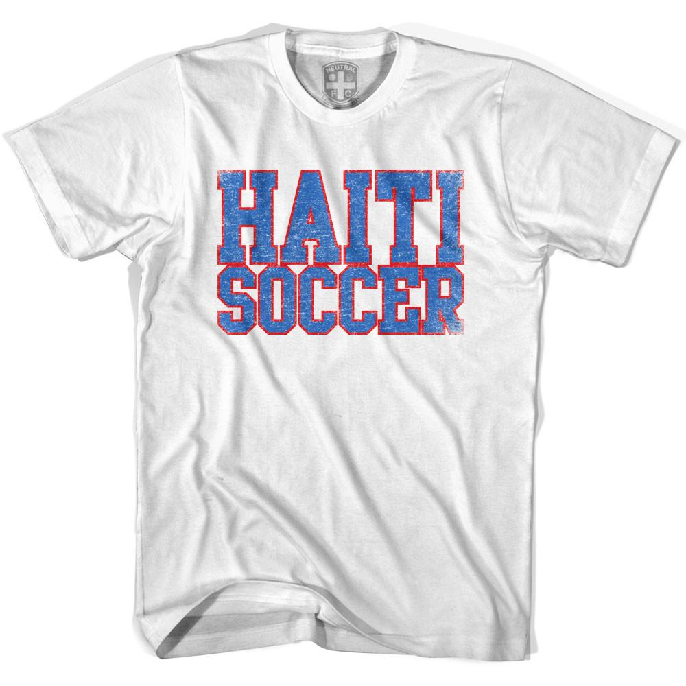 Haiti Soccer Nations World Cup T-shirt in White by Neutral FC