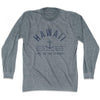 Hawaii Anchor Life on the Strand long sleeve T-shirt in Athletic Grey by Life On the Strand