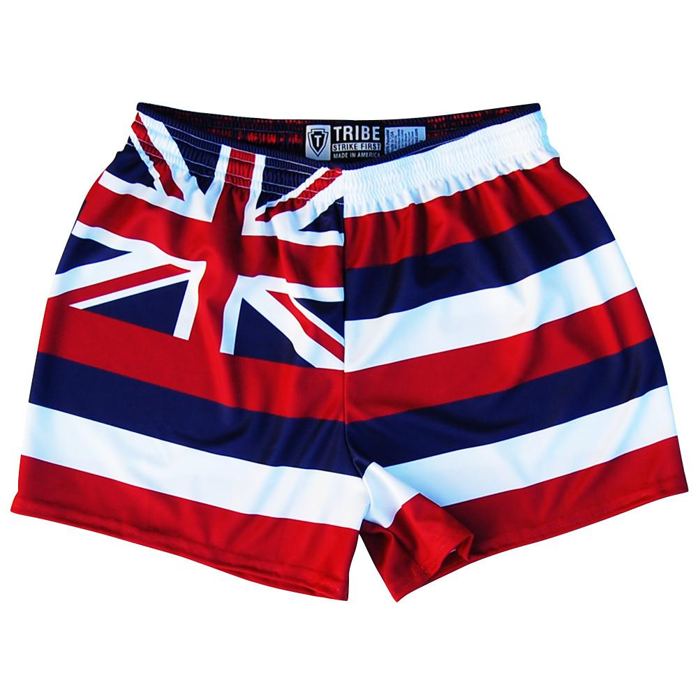 Hawaii Flag Womens & Girls Sport Shorts by Mile End in Red, Blue, White by Mile End Sportswear