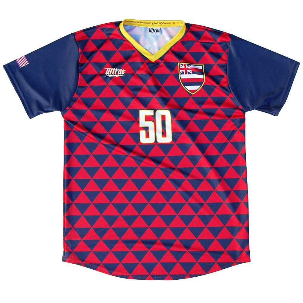 Hawaii State Cup Soccer Jersey in Red & Blue by Ultras