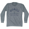 Hermosa Anchor Life on the Strand long sleeve T-shirt in Athletic Grey by Life On the Strand