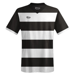 Ultras Custom Hoops Bold Team Soccer Jersey in Black/White by Ultras